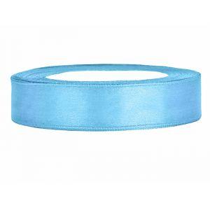 Satijnlint op rol 12mm (25m) Lichtblauw