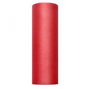Tule op rol Rood 15cm (9m)