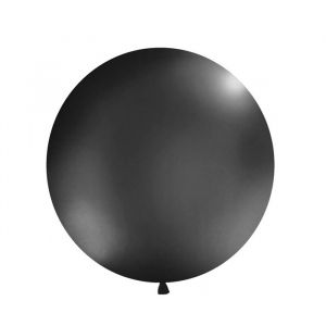 Mega ballon Zwart 1m