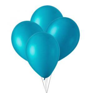 Metallic ballonnen turquoise (10st)