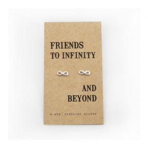 Friendship Infinity zilveren oorbellen