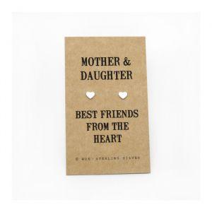 Mother & Daughter zilveren oorbellen