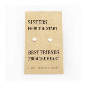 Sisters zilveren oorbellen