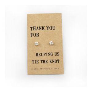 Thank You Bridesmaid zilveren oorbellen