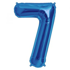 XL Folieballon 7 ( 90 cm ) Blauw