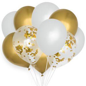 Ballonnenmix Chroom goud (10st) House of Gia