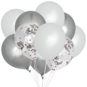 Ballonnenmix Chroom zilver (10st) House of Gia