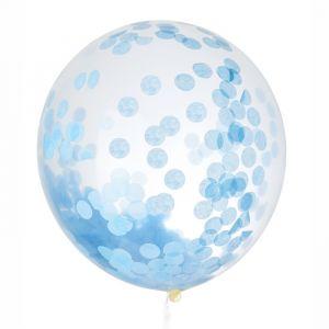 999-1604 - Mega confetti ballon blauw 60cm House of Gia