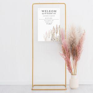 Metalen frame goud voor welkomstbord House of Gia