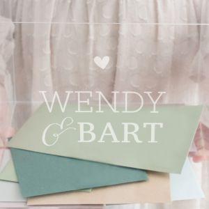 Enveloppendoos acryl Lovely lettertypes met namen