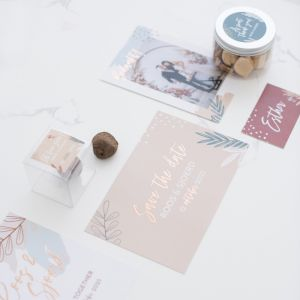 Chocoladereep trouwbedankje Arts & Romance