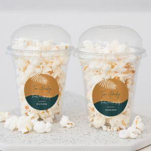 Popcorn beker abstract garden trouwbedankje