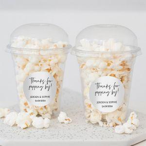Popcornbeker modern bedankje bruiloft