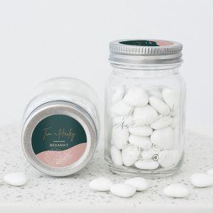 Mini mason jar abstract garden