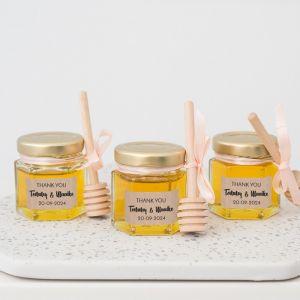 Honingpotje trouwbedankje kraft