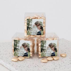 Bedankdoosje bruiloft met foto vierkant