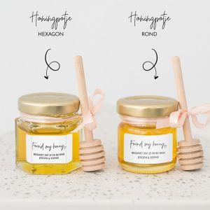 Honingpotje trouwbedankje modern