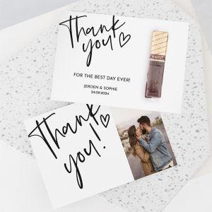 Merci modern bedankje bruiloft