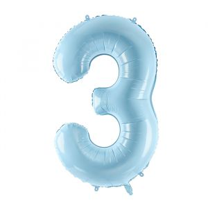 86cm Folieballon Pastel Blauw 3