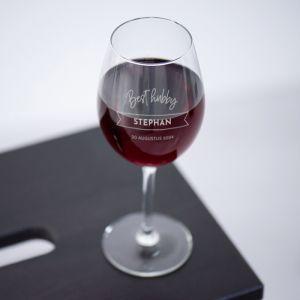Wijnglas graveren best hubby met naam