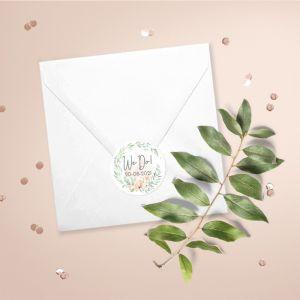 Sluitzegel trouwhuisstijl botanical romance