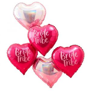 Folieballonnen Hart Bride Tribe (5 st) Ginger Ray