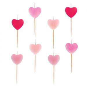 Kaarsjes Pink Hearts (8st) My Little Day