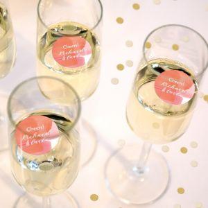 Champagnemuntjes coral aquarelle