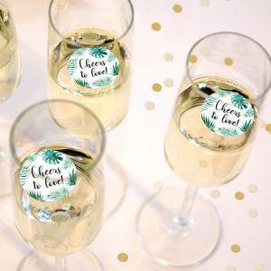 Champagnemuntje tropische bladeren