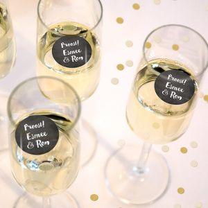 Champagnemuntjes krijtbord