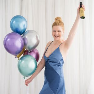 Chroom ballonnen paars (10st) House of Gia