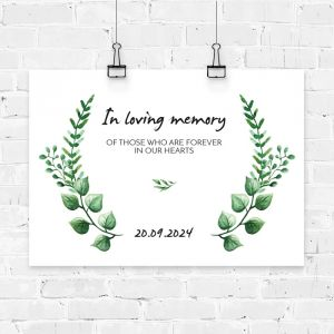 Poster touch of nature in loving memory