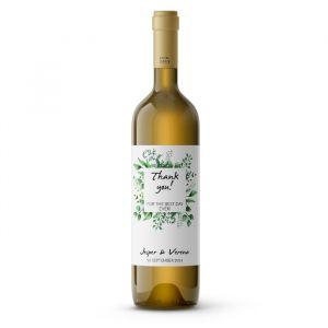 Wijnfleslabel bedankt touch of nature