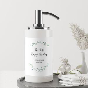 Sanitizer handgel pomp etiketten met takjes (4st)