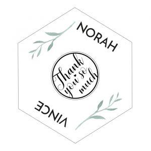 Etiket hexagon Modern Elegance