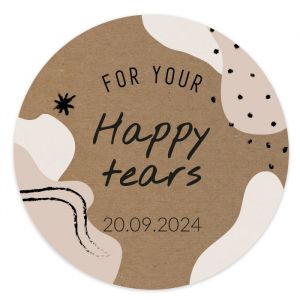 Etiket rond 35mm for your happy tears Cosmic Love