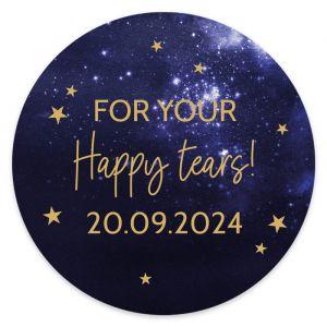 Etiket rond 35mm happy tears Galaxy