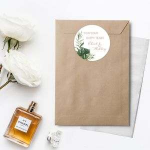 Etiket rond 35mm happy tears Beautiful botanics