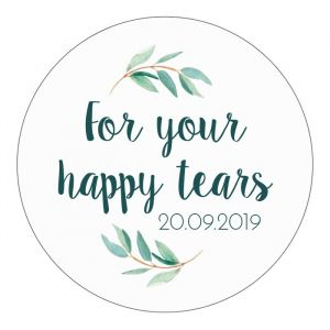 Etiket rond 35mm for your happy tears eucalyptus
