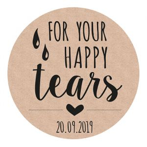 Etiket rond 35mm for your happy tears kraft