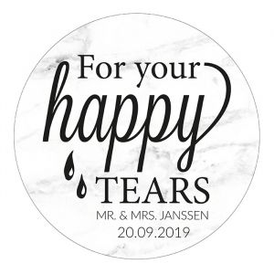 Etiket rond 35mm for your happy tears marmer