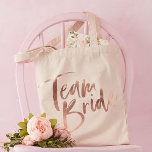 Canvas tas Team Bride Floral Hen Party Ginger Ray
