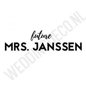 T-shirt Future Mrs Gepersonaliseerd