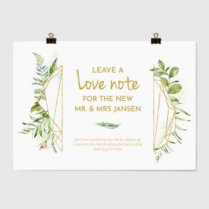Poster gastenboek geometric floral