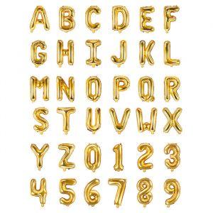 35cm folieballon letters en cijfers goud