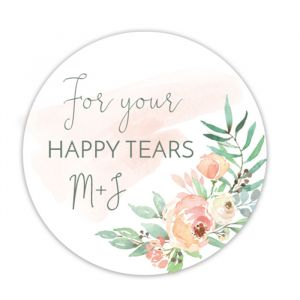 Happy tears etiket botanical romance