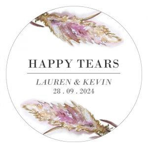 Etiket rond 35mm happy tears pampas gras