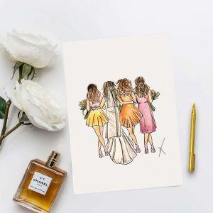 Persoonlijke illustratie team bride Sophie de Ruiter
