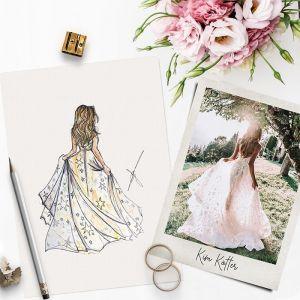 Persoonlijke illustratie bruid Sophie de Ruiter