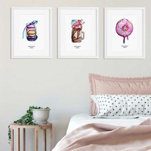 Aquarel illustratie macarons door Sophie de Ruiter
